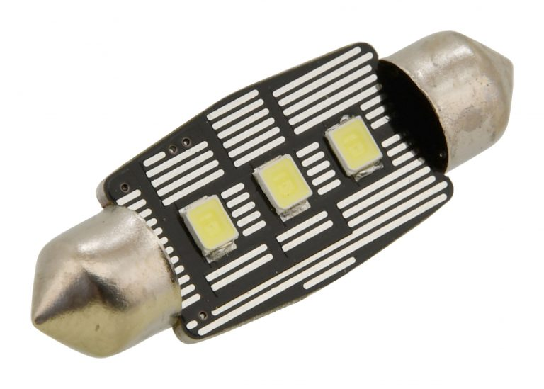 Žiarovka 3 LED SMD 12V suf.11X38 SV8.5 NEW-CAN-BUS bílá 2ks