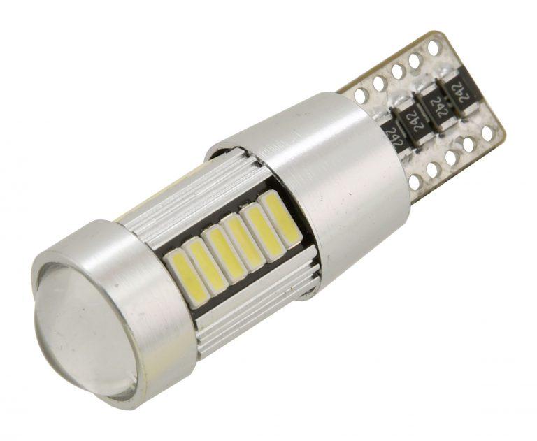 Žiarovka 27 LED 12V T10 NEW-CAN-BUS biela 2ks