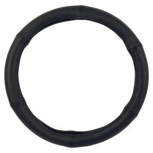 Poťah volantu čierny koža 44-46cm