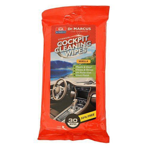 DM COCKPIT CLEANING 30ks VANILLA - čistiace obrúsky na plasty